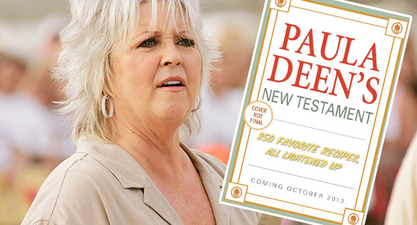 Paula Deen's New Testament: 350 favorite recipes, all lightened up was dropped by Ballantine Books, even though fans pre-ordered it to Amazon's top spot