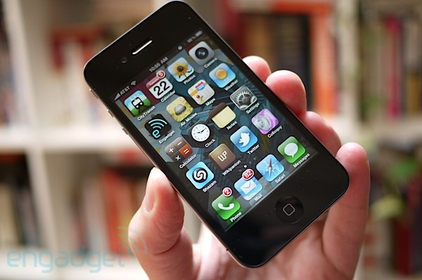 iphone 4 with folders