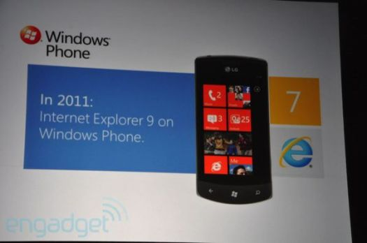 Microsoft shows off Windows Phone 7's future with multitasking, Twitter integration, and IE9, all coming this year