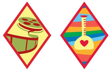 Digital Movie Maker and Science of Happiness badges