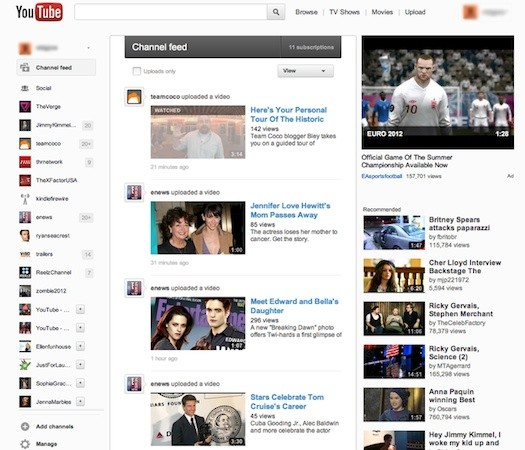 Redesigned YouTube rolling out to some users, shows more influences of Google