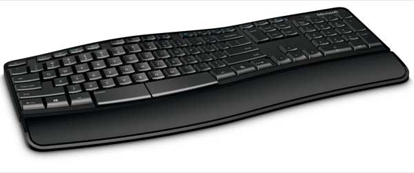 Microsoft intros Sculpt Comfort Keyboard, left end of the space bar can be programmed as a backspace key