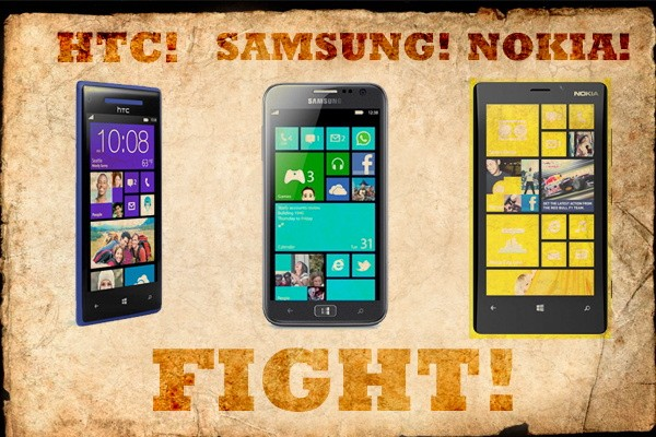 HTC's Windows Phone 8X vs the competition fight!