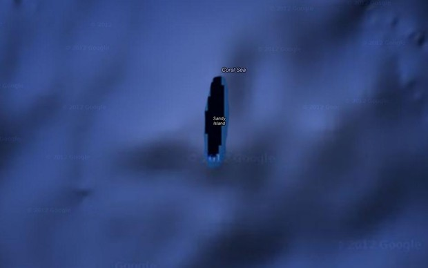 Explorers go looking for Google Maps mystery island, draw a deep blue blank