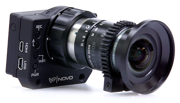 Novo is a modified GoPro Hero 3 that accepts CMount lenses, won't be available for sale