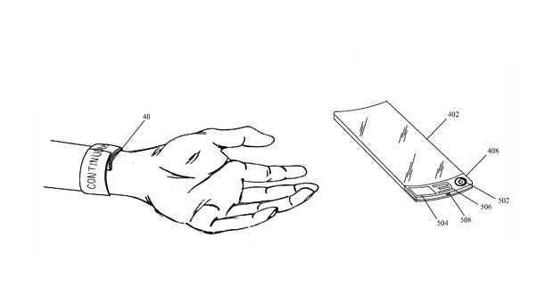 Apple patent application pairs a flexible screen with a slap bracelet for, you know, your wrist