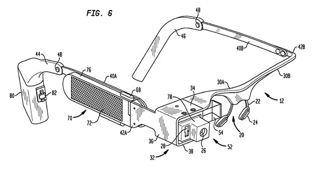 Google Glass patent application shows detailed diagrams