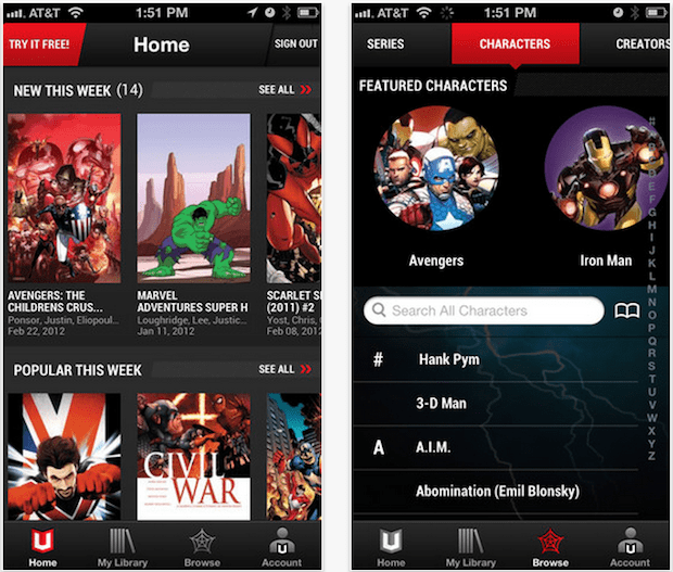 Marvel Unlimited for iOS appears, brings comics subscriptions to iPhones and iPads for $60 a year