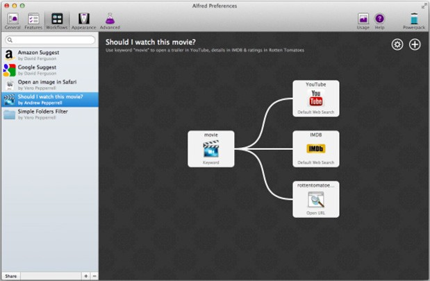 Alfred v2 brings Workflows, automates what Automator might not