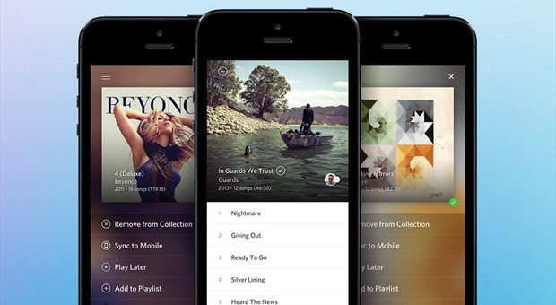 Rdio on iPhone now shows which friends are listening, supersizes album art