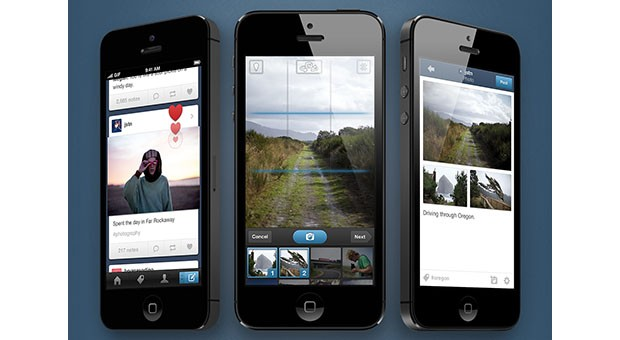 Tumblr 33 hits App Store with new camera, photosets