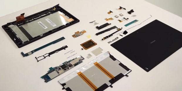 Sony ruthlessly tears apart an Xperia Tablet Z for your viewing pleasure (video)
