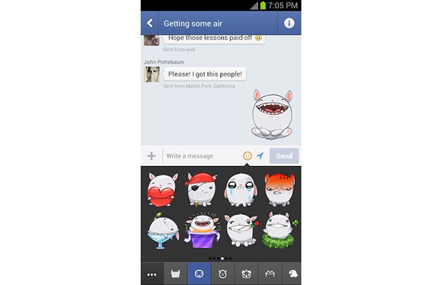 Facebook adds a helping of cheese to Messenger with stickers