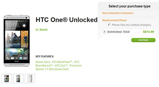 HTC's One pops up on its site with unlocked SIM and bootloader for $575