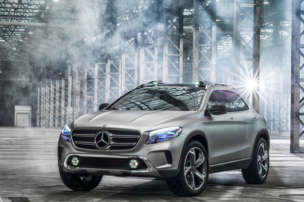 MercedesBenz GLA concept puts laser projectors in headlights, redefines the SUV as 'sporty'