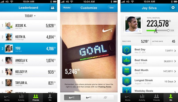 Nike FuelBand app for iOS adds friends and sharing for some healthy bragging