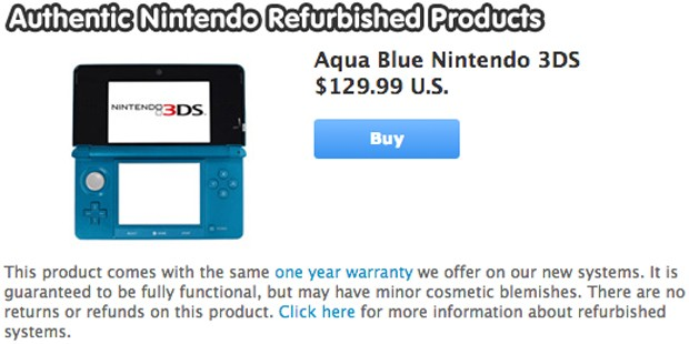 Nintendo now selling refurbished 3DS and DSi XL