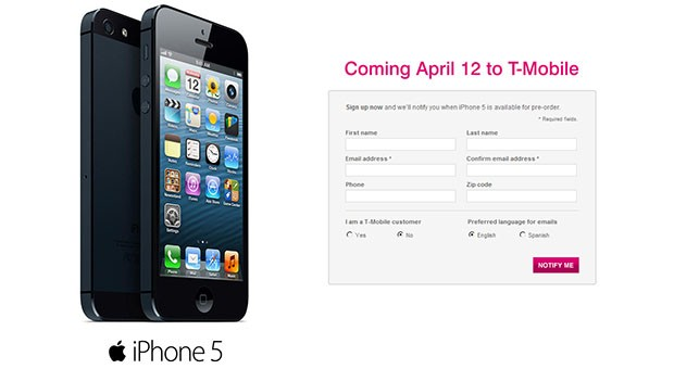 PSA TMobile iPhone 5 preorders start rolling today