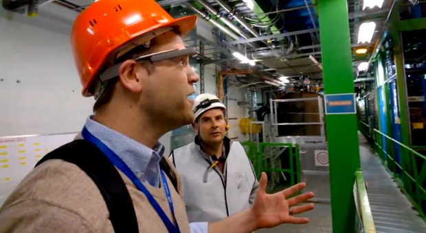 Physics teacher adopts Google Glass, gives students a firsthand look at CERN video