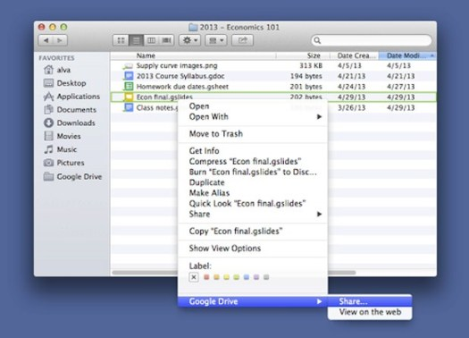 Google Drive desktop app adds inapp file sharing, catches up to 2010's Dropbox