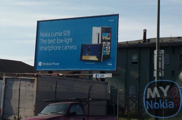 Nokia Lumia 928 billboard can't wait for official announcement, trumpets low-light camera