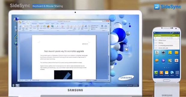Samsung SideSync functionality gets detailed on video
