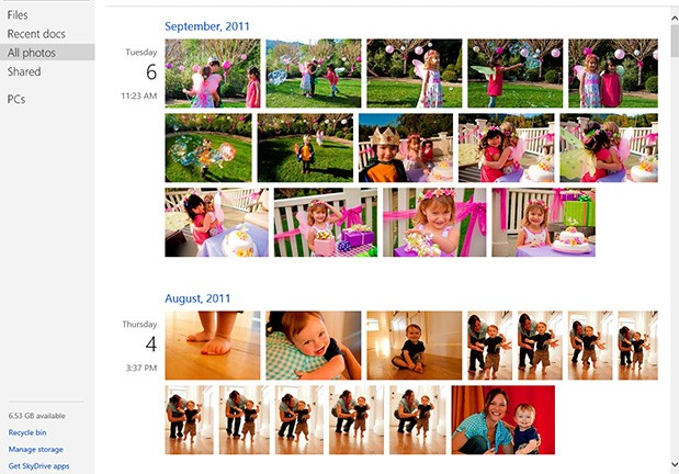 SkyDrive update brings photo timeline,