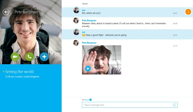 Skype Video Messaging preview makes its way to Windows 8