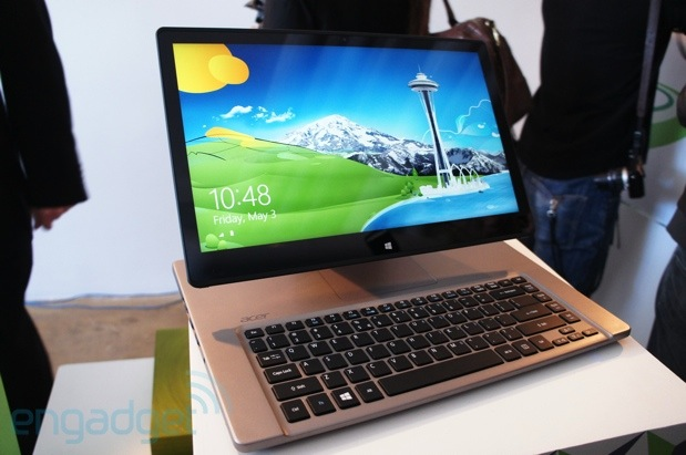 Acer intros Aspire R7, a laptop with an adjustable display like an all-in-one (update: hands-on)