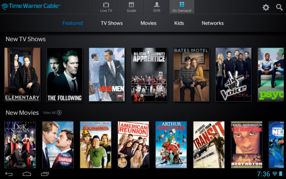 TWC TV app bringing remote viewing and On Demand access to Android devices