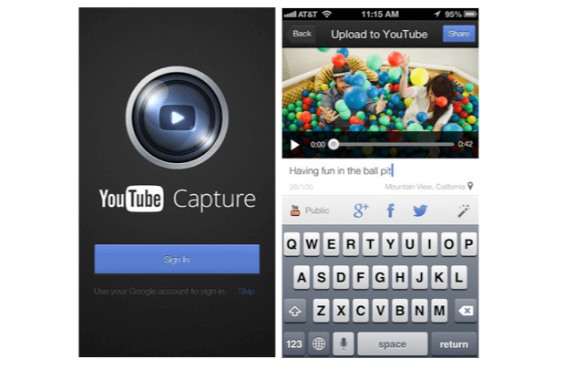 DNP YouTube Capture for iOS updated with optional WiFi only video uploads