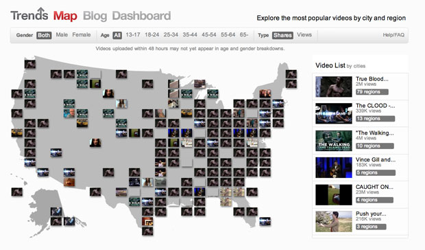 YouTube Trends map shows you what the rest of the country is watching