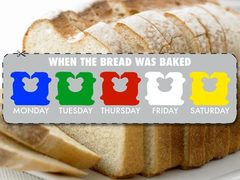 color coded Bread baking labels