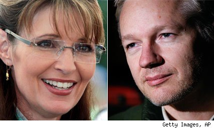 Sarah Palin, Julian Assange