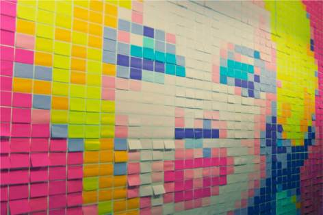 post-it wall