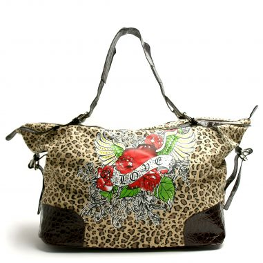 Cheetah Print Love Tattoo Bag