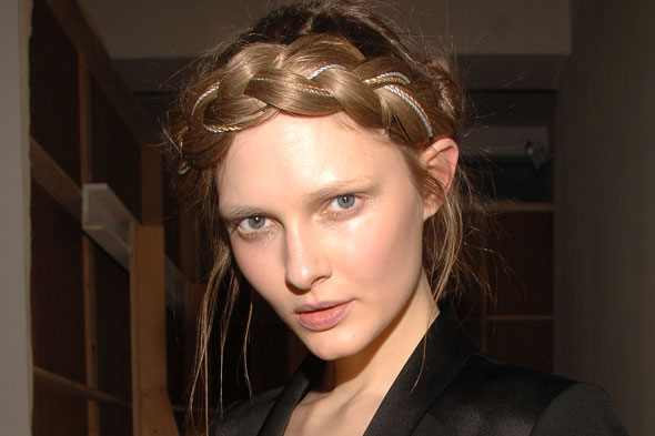 Makeup hair Erin Fetherston Fall 2011