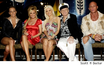 Holly Madison, Bridget Marquardt and Kendra Wilkinson, Hugh Hefner, Johnny Brenden