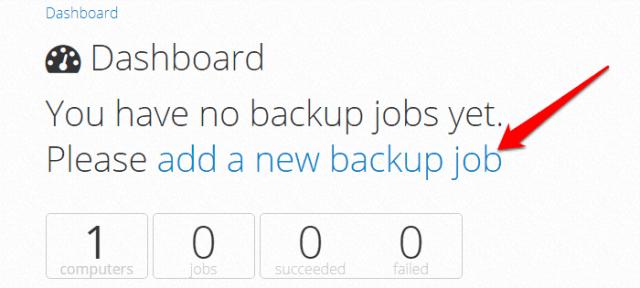 sqlbak.com - add a new backup job