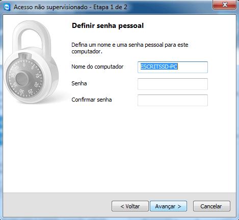 Senha de acesso supervisionado TeamViewer