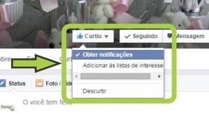 Facebook obter notificações da página