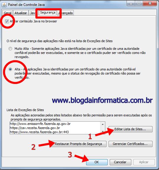 Java Configurado - Segurança