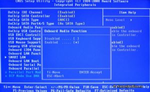 Desabilitar periféricos da BIOS 1