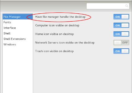 Habilitar ícones no Desktop do Gnome 3