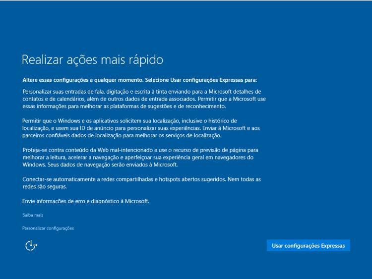 Windows 10 - Primeiras configurações