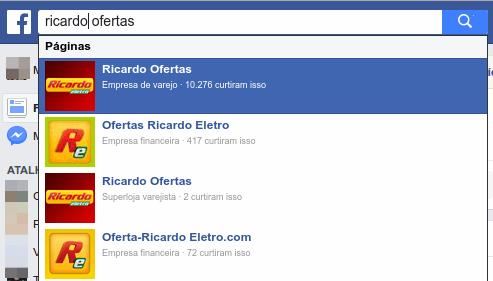 Facebook - Páginas falsas