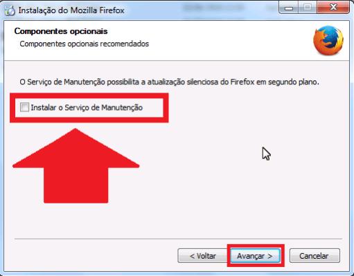 Firefox - Serviço de manutenção