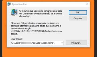 Erro no Aplicativo Itaú - Instalar ou atualizar
