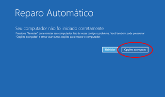 Windows 10 não inicia - Reparo automático