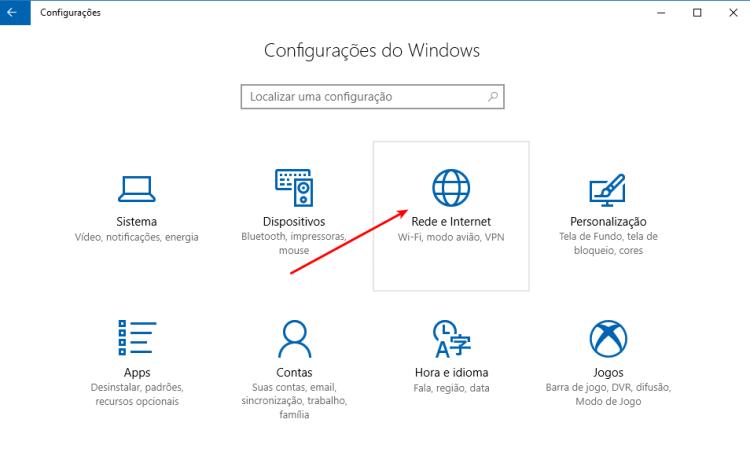 Windows 10 - Configurações de Rede